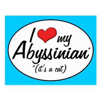 It's a Cat! I Love My Abyssinian Postcard