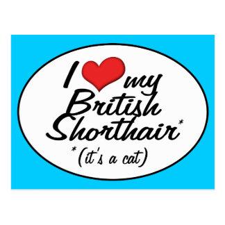 It's a Cat! I Love My British Shorthair Post Card