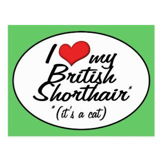 It's a Cat! I Love My British Shorthair Postcard