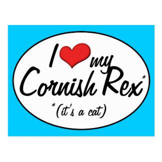 It's a Cat! I Love My Cornish Rex Postcard