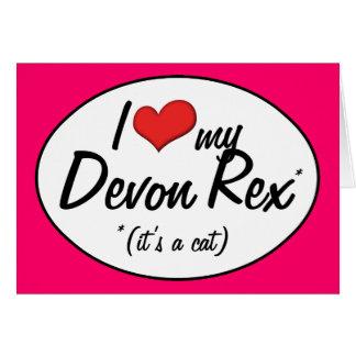 It's a Cat! I Love My Devon Rex Cards