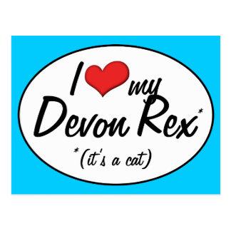 It's a Cat! I Love My Devon Rex Post Card