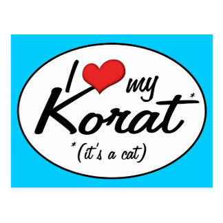 It's a Cat! I Love My Korat Postcard