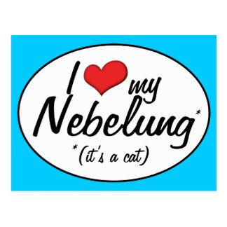 It's a Cat! I Love My Nebelung Postcard