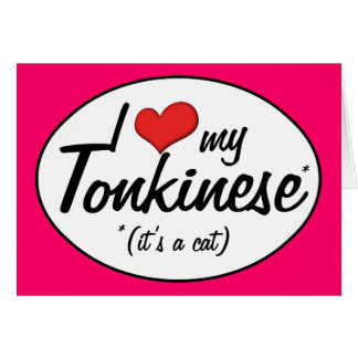 It's a Cat! I Love My Tonkinese Cards
