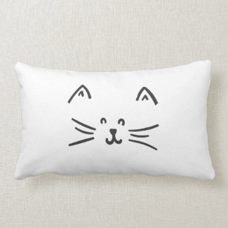 It's a cat! lumbar cushion