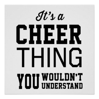 It's a Cheer Thing Poster