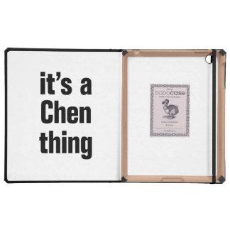 its a chen thing iPad folio case