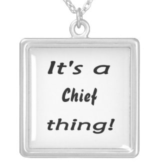 It's a chief thing! square pendant necklace