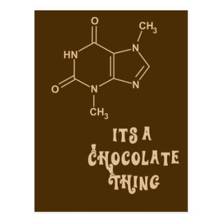 Its a Chocolate Thing Funny Card Postcard