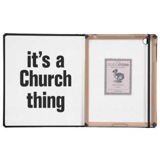 its a church thing iPad covers