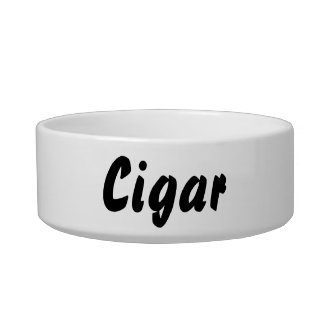 It's a cigar thing! cat food bowls