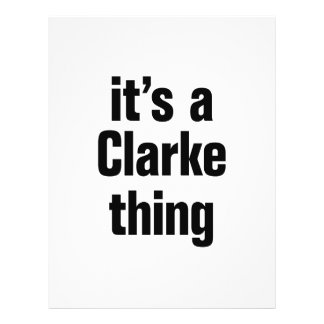 """its a clarke thing 8.5"""" x 11"""" flyer"""