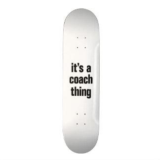 its a coach thing custom skateboard