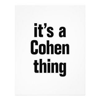 """its a cohen thing 8.5"""" x 11"""" flyer"""
