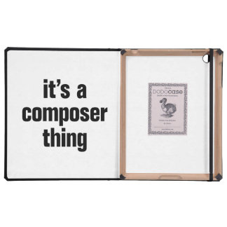 its a composer thing iPad folio cover