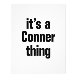 its a conner thing 21.5 cm x 28 cm flyer