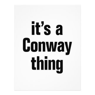 its a conway thing 21.5 cm x 28 cm flyer