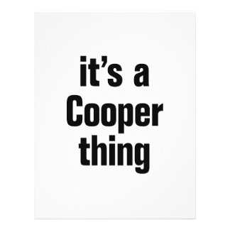 "its a cooper thing 8.5"" x 11"" flyer"