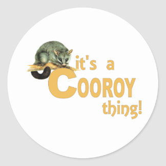 It's a Cooroy Thing Round Sticker