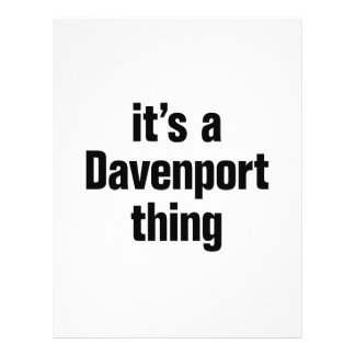 """its a davenport thing 8.5"""" x 11"""" flyer"""