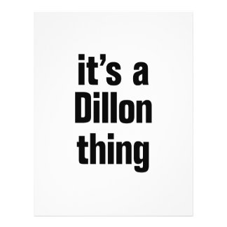 its a dillon thing 21.5 cm x 28 cm flyer