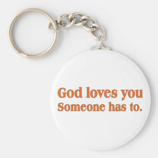 It's a dirty job but God can do it Basic Round Button Key Ring