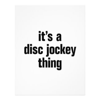 "its a disc jockey thing 8.5"" x 11"" flyer"