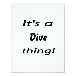 It's a dive thing! announcement