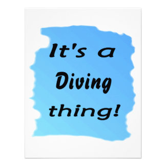 It's a diving thing! custom invitation