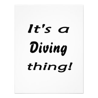 It's a diving thing! announcements