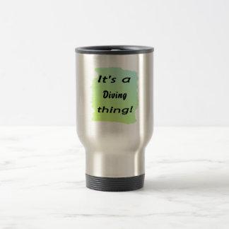It's a diving thing! coffee mug