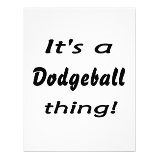 It's a dodgeball thing! personalized announcements