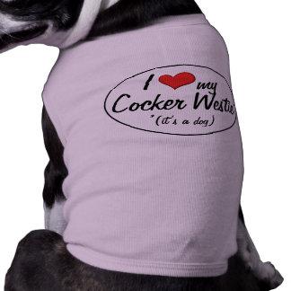 It's a Dog! I Love My Cocker Westie Dog Tee Shirt