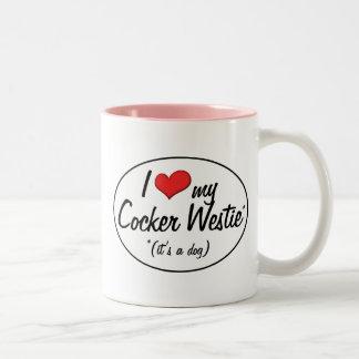 It's a Dog! I Love My Cocker Westie Two-Tone Coffee Mug