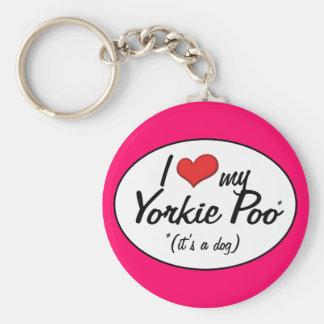 It's a Dog! I Love My Yorkie Poo Key Ring