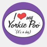 It's a Dog! I Love My Yorkie Poo Round Sticker