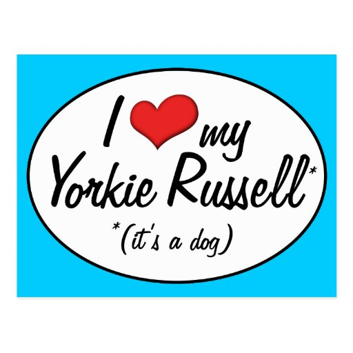 It's a Dog! I Love My Yorkie Russell Postcards