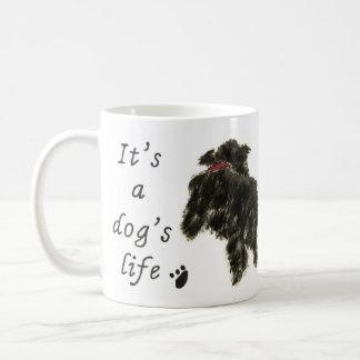 It's a Dog's Life, dogs playing chase fun Basic White Mug