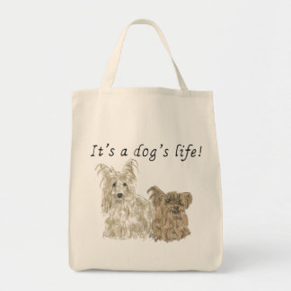 It's a dog's life, funny cute dogs tote bag design