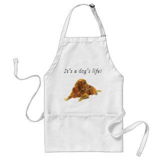 It's a dog's life. Funny Labrador retriever apron