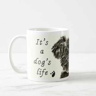 It's a Dog's Life Funny Schnauzer puppy Art Slogan Coffee Mug