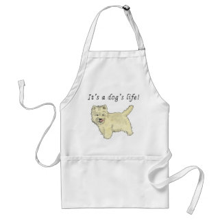 It's a dog's life. Funny Westie dog apron design
