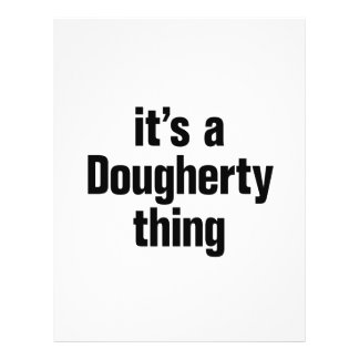 its a dougherty thing 21.5 cm x 28 cm flyer
