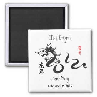 It's a Dragon!  New Born Baby - Year of the Dragon Magnet