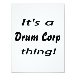 """It's a drum corp thing! 4.25"""" x 5.5"""" invitation card"""