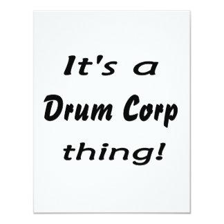 It's a drum corp thing! custom invitation