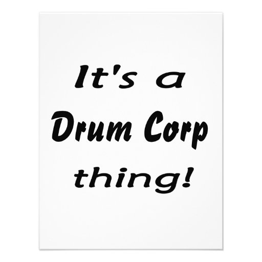 It's a drum corp thing! custom announcements