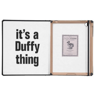 its a duffy thing iPad folio case