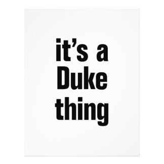 "its a duke thing 8.5"" x 11"" flyer"